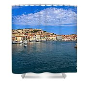 Portoferraio - View From The Sea Shower Curtain