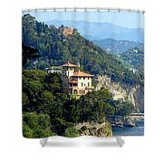 Portofino Coastline Shower Curtain