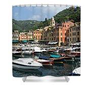 Portofino Port Entrance Shower Curtain