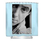 Portrait Figurative Study Piece Of Bobby  Shower Curtain
