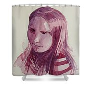 Portrait In Burgundy  Shower Curtain