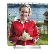 Portrait In Newfoundland Shower Curtain by Jeff Kolker