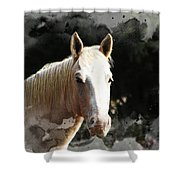 Portrait In Watercolor -  Featured In Spectacular Artworks Of Faa Shower Curtain