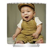 Portrait Of A Baby Boy Shower Curtain