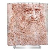 Portrait Of A Bearded Man Shower Curtain