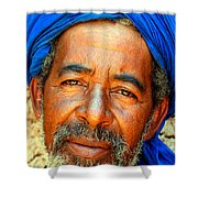 Portrait Of A Berber Man  Shower Curtain