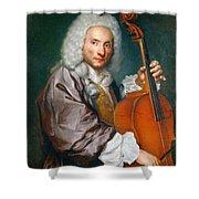 Portrait Of A Cellist Shower Curtain