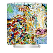 Portrait Of A Cow Shower Curtain