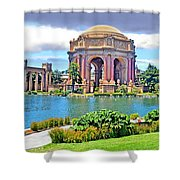 Portrait Of A Filipina Beauty Altered Version Shower Curtain