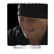 Portrait Of A Fishermans Wife Shower Curtain