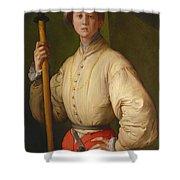 Portrait Of A Halberdier Shower Curtain