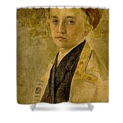 Portrait Of A Jewish Boy  Shower Curtain