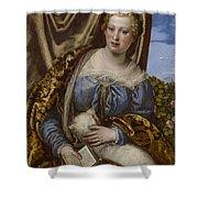 Portrait Of A Lady As Saint Agnes Shower Curtain
