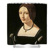 Portrait Of A Lady As Saint Lucy Shower Curtain