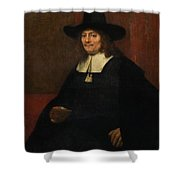 Portrait Of A Man In A Tall Hat Shower Curtain
