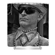 Portrait Of A Mime In Jackson Square Shower Curtain