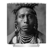 Portrait Of A Native American Man Shower Curtain by Aged Pixel