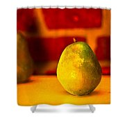 Portrait Of A Pear Shower Curtain