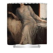 Portrait Of A Seated Woman Shower Curtain