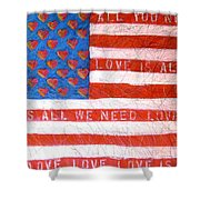 Portrait Of A Tender Land Within My Heart Shower Curtain