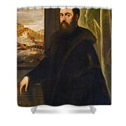 Portrait Of A Venetian Senator Shower Curtain