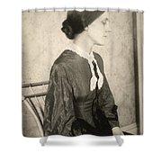 Portrait Of A Woman, C1895 Shower Curtain