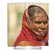 Portrait Of A Woman In Hampi Shower Curtain