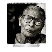 Portrait Of A Woman In Madurai Shower Curtain
