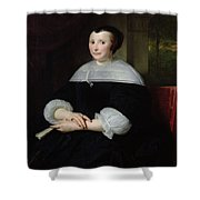 Portrait Of A Woman Oil On Canvas Shower Curtain