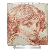 Portrait Of A Young Boy Shower Curtain