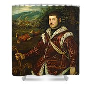 Portrait Of A Young Man As David Shower Curtain