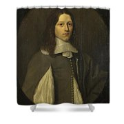 Portrait Of A Young Man In Grey Shower Curtain