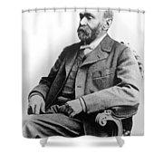 Portrait Of Alfred Nobel Shower Curtain