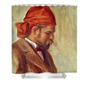 Portrait Of Ambroise Vollard 1868-1939 Oil On Panel Shower Curtain