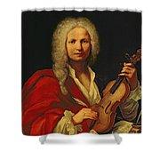 Portrait Of Antonio Vivaldi Shower Curtain