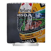 Portrait Of Ayrton Senna Shower Curtain