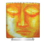 Portrait Of Buddha Shower Curtain