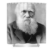 Portrait Of Charles Darwin Shower Curtain