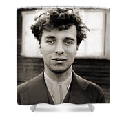 Portrait Of Charlie Chaplain Shower Curtain