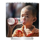 Portrait Of Chinese Child In Xian China Shower Curtain