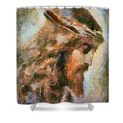 Portrait Of Christ Shower Curtain