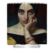 Portrait Of Clementine Shower Curtain