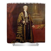 Portrait Of Colonel Sir Samuel Wilson, Lord Mayor Of London, 1838 Oil On Canvas Shower Curtain