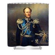 Portrait Of Count Alexander Benkendorff Shower Curtain