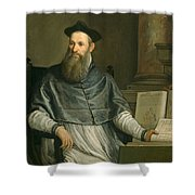 Portrait Of Daniele Barbaro Shower Curtain by Paolo Caliari Veronese