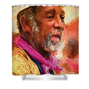 Portrait Of Dr. Luv - Painting Shower Curtain