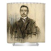 Portrait Of Eduardo Chicharro Shower Curtain