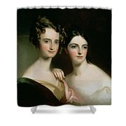 Portrait Of Ellen And Mary Mcilvaine, 1834 Oil On Canvas Shower Curtain