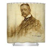 Portrait Of Emile Bertaux Shower Curtain