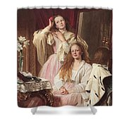 Portrait Of Emma And Frederica Bankes Shower Curtain